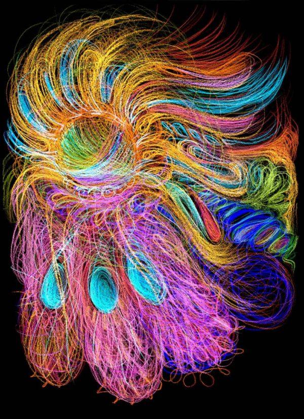 Automatická kresba tanec barev