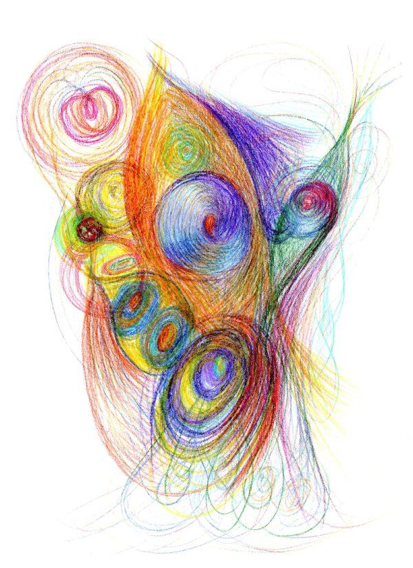 Pestrobarevná automatická kresba