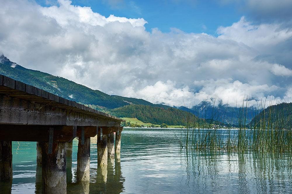 Jezero Wolfgangsee v Rakousku
